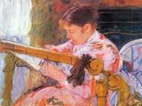 Lydia at the Cord Framework Art by Mary Cassatt