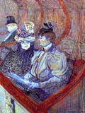 The Loge Láminas por Henri de Toulouse-Lautrec