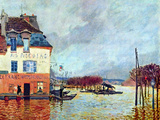 Flood at Port Manly Poster by Alfred Sisley