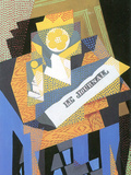 Newspapers and Fruit Bowl Poster by Juan Gris