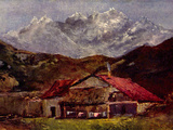 Gustave Courbet - The Mountain Hut Reprodukce