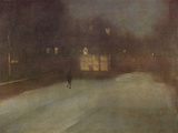 Nocturne Grey and Gold Snow in Chelsea Prints by James Abbott McNeill Whistler