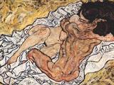Egon Schiele - The Embrace Plakát