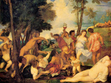 Bacchanal Posters by  Titian