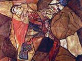 Agony (The Death Struggle) Print by Egon Schiele