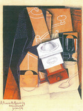 Coffee Grinder, Cup and Glass on a Table Posters by Juan Gris