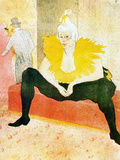 Sitting Clown Láminas por Henri de Toulouse-Lautrec