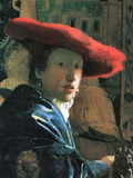 Girl with Red Hat Prints by Jan Vermeer