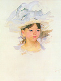 Ellen Mary Cassat with Large Blue Hat Posters by Mary Cassatt