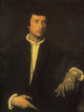 Man with Gloves Prints by  Titian