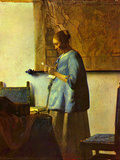 The Letter Reader Posters by Jan Vermeer