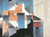 Guitar on a Table Prints by Juan Gris