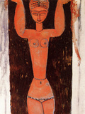 Standing Caryatid, 1913 Prints by Amedeo Modigliani