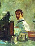 Self Portrai Looking in a Mirror Pósters por Henri de Toulouse-Lautrec