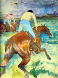 The Jockey Láminas por Henri de Toulouse-Lautrec