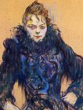 Woman in a Black Boa Láminas por Henri de Toulouse-Lautrec