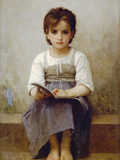 The Difficult Lesson Prints by William Adolphe Bouguereau