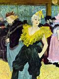 The Clowness Arte por Henri de Toulouse-Lautrec