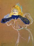Yvette Guilbert Sings Láminas por Henri de Toulouse-Lautrec