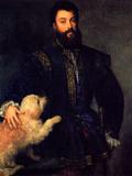 Federico Gonzada II, Duke of Mantua Posters by  Titian