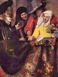 Kupplerin Print by Jan Vermeer