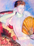 Lady with Fan Posters by Mary Cassatt