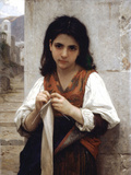 Tricoteuse Prints by William Adolphe Bouguereau