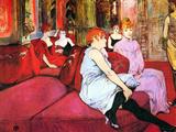 Salon in the Rue De Moulins Arte por Henri de Toulouse-Lautrec