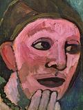 Self Portrain Affischer av Paula Modersohn-Becker
