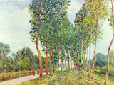 Banks of the Loing in Moret Posters by Alfred Sisley