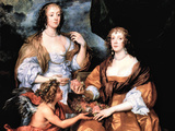 Elizabeth Thimbleby and Dorothy Viscountess Andover Poster von Anthony Van Dyck