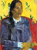 Woman with Flower Poster by Paul Gauguin