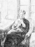 An Old Woman Knitting Prints by Mary Cassatt