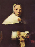 Women's Portrait Posters by Jan Vermeer