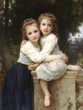 Two Sisters Posters by William Adolphe Bouguereau