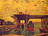 Bridge under Construction Art by Alfred Sisley