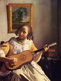 The Guitar Player Posters by Jan Vermeer