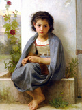 The Little Knitter Prints by William Adolphe Bouguereau