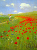 Field of Poppies Poster by Paul von Szinyei-Merse
