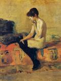 Study of a Feminine Nude Láminas por Henri de Toulouse-Lautrec
