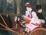 In the Wagon Prints by Mary Cassatt