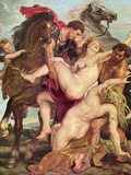Rape of the Daughters of Leukippos Prints by Peter Paul Rubens