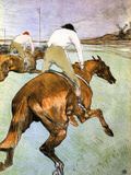 The Jockey 2 Lámina por Henri de Toulouse-Lautrec