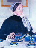 Lady at the Table Posters by Mary Cassatt