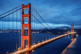 Golden Gate Bridge, Blue Hour Fotodruck von  prochasson
