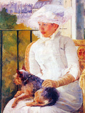 Lady with Dog Prints by Mary Cassatt