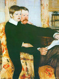 Alexander J. Cassat and Son Robert Kelso Cassat Print by Mary Cassatt