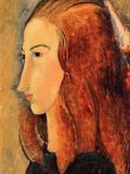 Portrait of Jeanne Hebuterne, 1918 Art by Amedeo Modigliani