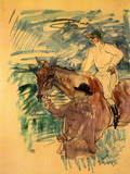 The Jockey 3 Láminas por Henri de Toulouse-Lautrec