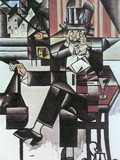 Man in Café Posters by Juan Gris
